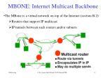 mbone internet multicast backbone