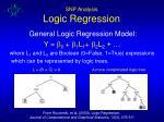 snp analysis logic regression
