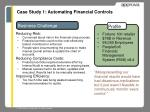 case study 1 automating financial controls