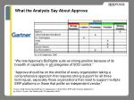 what the analysts say about approva