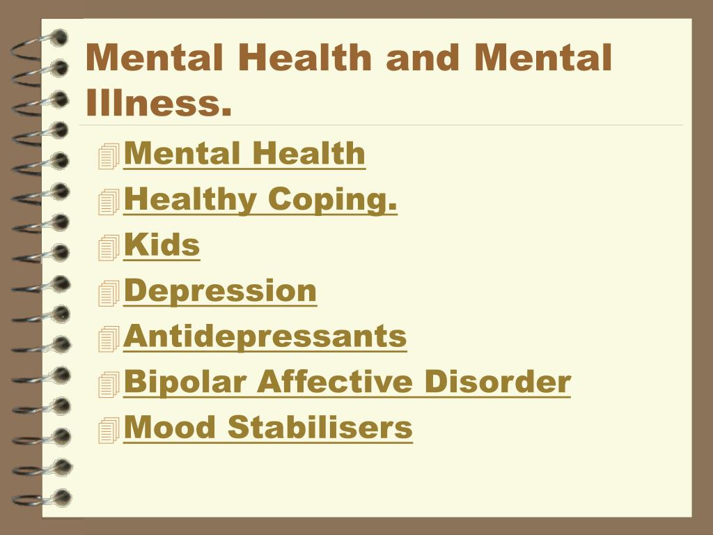 mental health and mental illness l.