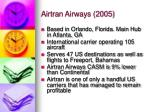 airtran airways 2005