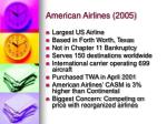 american airlines 2005