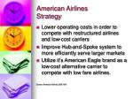 american airlines strategy