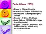 delta airlines 2005