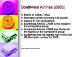 southwest airlines 2005