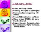 united airlines 2005