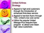 united airlines strategy