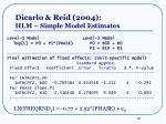 dicarlo reid 2004 hlm simple model estimates