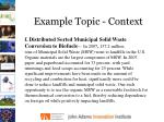 example topic context