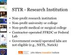 sttr research institution
