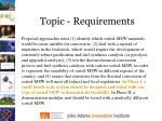 topic requirements