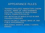 appearance rules