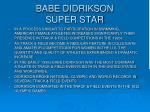 babe didrikson super star