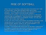 rise of softball