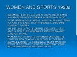 women and sports 1920s