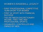 women s baseball legacy