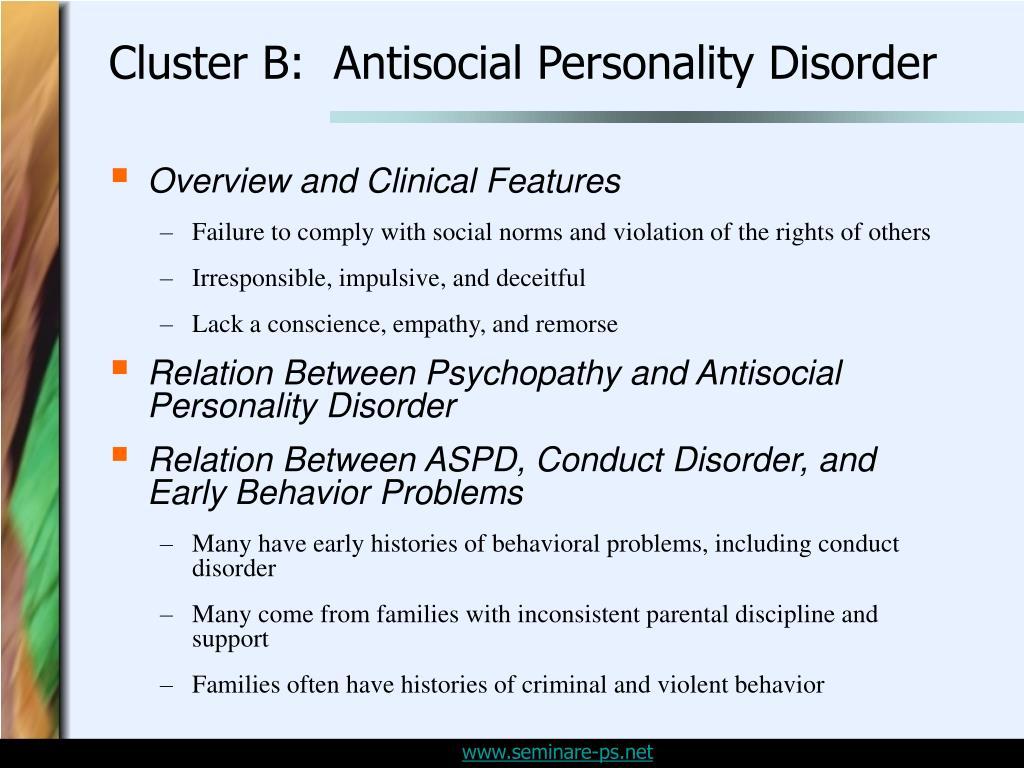 antisocial personallity disorder