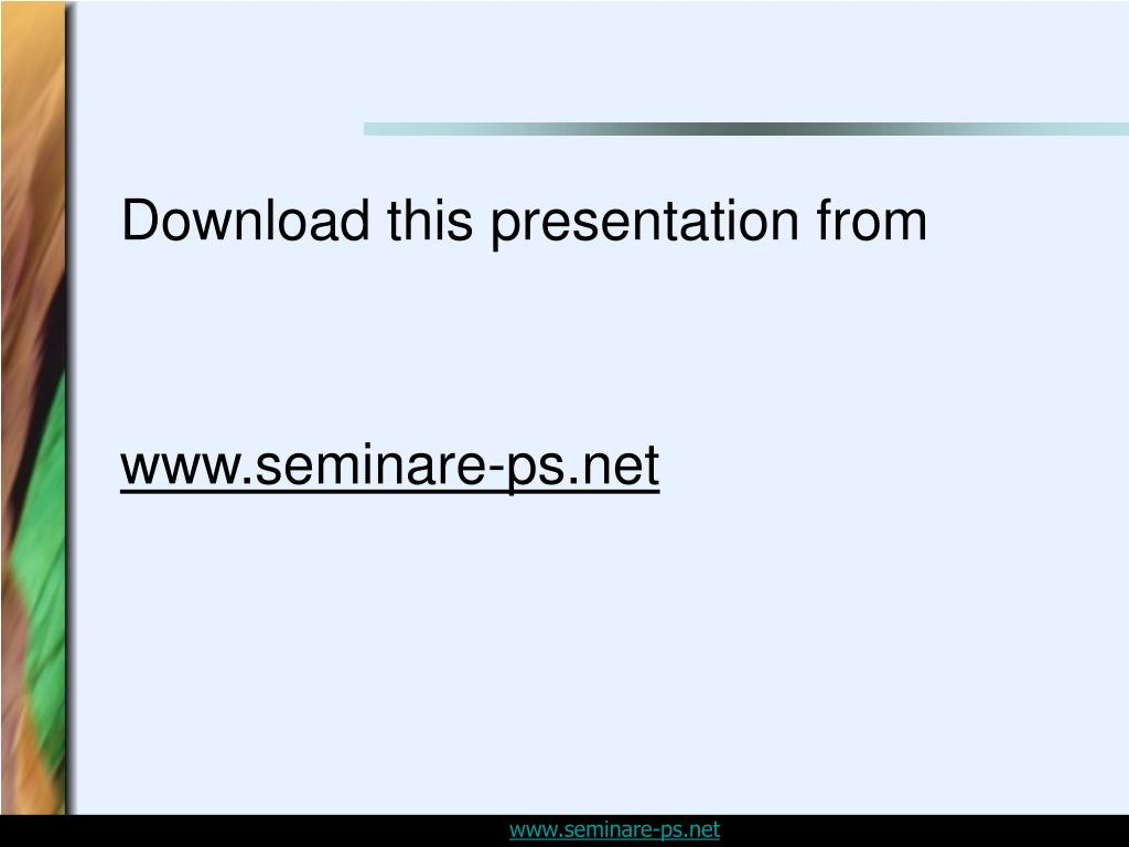 Download this presentation from