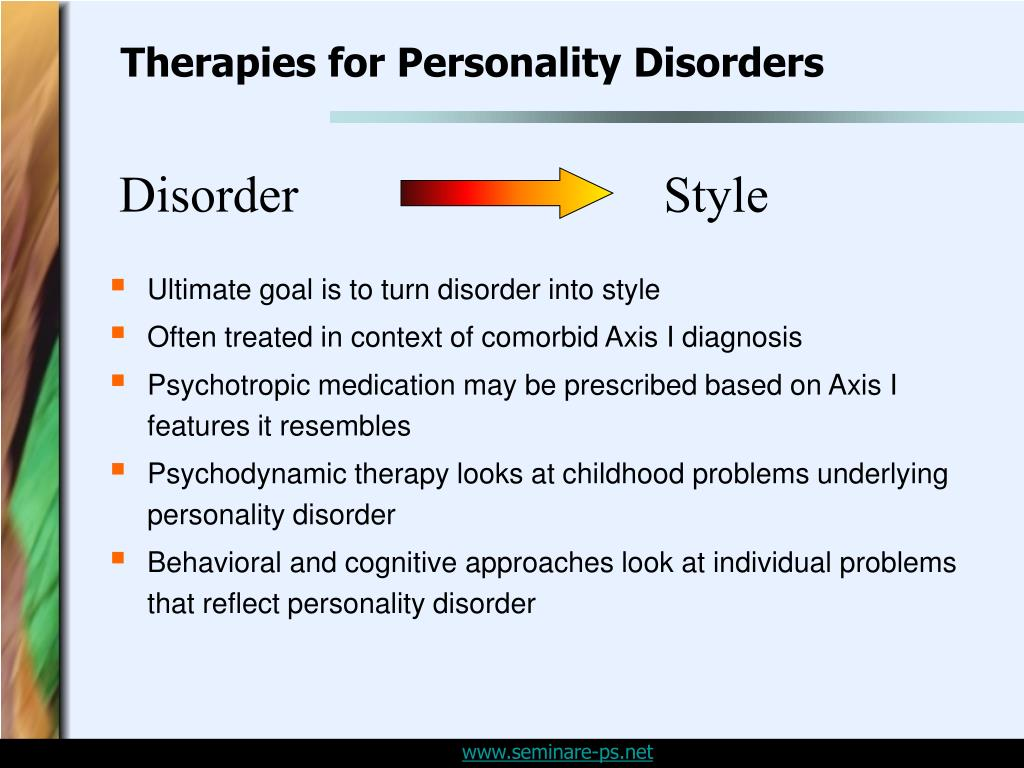 Therapies for Personality Disorders
