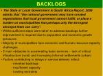 backlogs