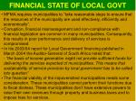 financial state of local govt