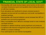 financial state of local govt1