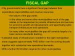 fiscal gap