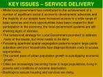 key issues service delivery