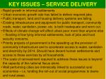 key issues service delivery1