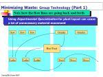 minimizing waste group technology part 1