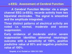 a eeg assessment of cerebral function