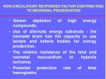 non circulatory responses factor contributing to neuronal preservation