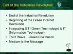 end of the industrial revolution