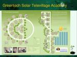greentech solar televillage academy