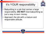 it s your responsibility