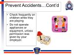 prevent accidents cont d