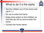 what to do if a fire starts