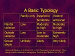 a basic typology