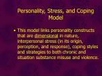 personality stress and coping model