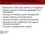 component b managing the municipal workforce