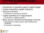 component b spending against capital budget