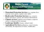 major forest ecosystem services