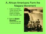a african americans form the niagara movement