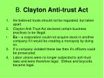 b clayton anti trust act