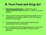 b pure food and drug act