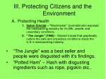 iii protecting citizens and the environment