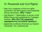 iv roosevelt and civil rights