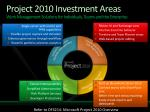 project 2010 investment areas work management solutions for individuals teams and the enterprise