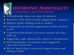 histrionic personality 5 or more of the following
